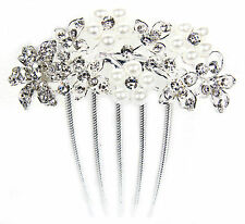Pearl Flower Comb Costume Hair & Head Jewellery