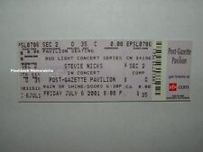 Stevie Nicks Concert Ticket Burgettstown Pa 2001 Post-Gazette Fleetwood Mac