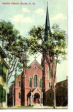 Baptist Church Building-Keene-New Hampshire-Vintage 1912 Postcard