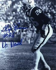 "1- SKIP THOMAS ""DR. DEATH""  OAKLAND RAIDERS 8X10 REPRINT AUTO PHOTO"