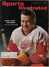 1963 1/28 Sports Illustrated, Hockey, magazine, Howie Young Detroit Red Wings Gd