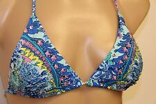 New Juicy Couture Swimsuit Bikini Top Size M Halter Beaded