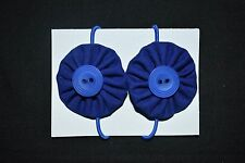 Girls royal blue school hair ties - handmade