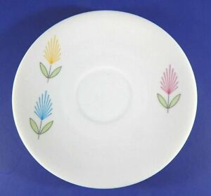 Vintage Seltmann Weiden Bavaria Saucer Plate Red Yellow Blue Flowers