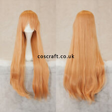 80cm long straight cosplay wig with fringe in peach pink, UK SELLER, Alex