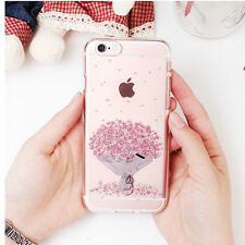 Baby's Breath Clear Jelly Case iPhone 7 Case iPhone 7 Plus Case 3 Types Case