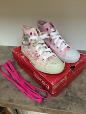 Red by Marc Ecko Silver/ Pink Hi tops Trainers Baseball Boots Size 12 ��VGC��