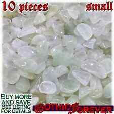 10 Small 10mm Combo Ship Tumbled Gem Stone Crystal Natural - Prehnite