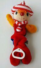 Vintage DAKIN Soft Stuffed plush musical clown pull crib toy 1985 primary colors