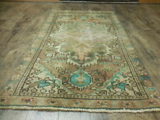 C1930 Antique Tabatabae Shahabasi Serapi Heriz 3x5.1 Estate Sale Rug