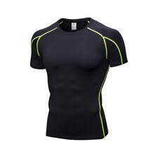 Men's Rashguard Short Sleeve T-Shirts Baselayer Compression Top Running Yoga HM