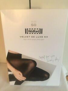 Wolford Velvet de Luxe 50 in Medium in Black UK 10-12 perfect condition /