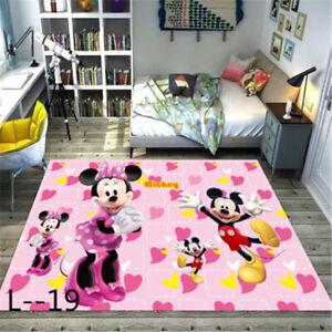 Mickey Minnie Mat Dining Room Carpet Rugs Bedroom Door Mat pink Disney Printed