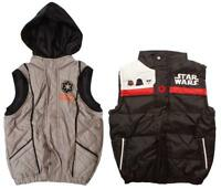 Boys Gilet Jacket Darth Vader Star Wars Empire Padded Body Warmer 4 to 10 Years