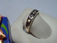 14Kt YellowGold Gents 4.5mm Band#9990A Estate .25ctw Natural Diamond Traditional