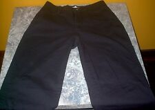 Women's LEE Relaxed Straight Leg At The Waist Stretch Pants Black Sz. 4 Medium