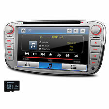 """7"""" Silver Car CD MP3 DVD Player GPS Stereo Bluetooth Radio For Ford Focus S-Max"""