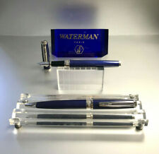 Waterman Exception Slim Patent Blue S.C.Füllfederhalter Kugelschreiber New