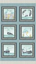 "Studio E Barnacle Bay Blue Panel 3200 11 24"" Fabric By Debi Hubbs"