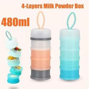 4 Layers Baby Milk Powder Formula Dispenser Bottle Container Food Storage Fast.