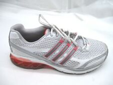 Adidas 8M Boost silver white pink womens running sneakers tennis shoes 378075