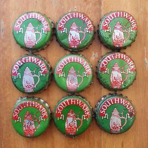 9 x SOUTHWARK BITTER Beer Bottle Caps / Tops 1960's.