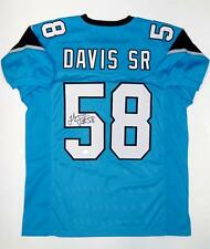 Thomas Davis Autographed Blue Pro Style Jersey- JSA Witnessed Auth