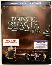 NEW FANTASTIC BEASTS & WHERE TO FIND THEM BLU RAY DVD TARGET EXCLUSIVE SLIPCOVER