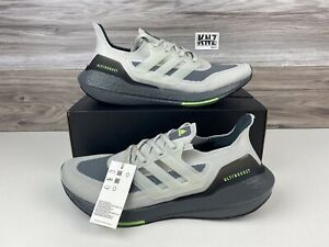 Men's Adidas Ultraboost 21 Grey Neon | size 10.5 | S23875 WITH BOX Retail $180