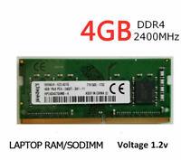 4GB (1x4GB) DDR4 PC4-19200 PC4-2400T 2400 MHz Laptop SODIMM RAM Memory Upgrade