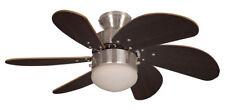 Fantasia Eurofan Atlanta 30in Ceiling Fan Brushed Nickel Dark Oak Blades 114390
