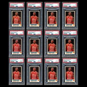 *12X LOT* 1990 Panini NBA Sticker MICHAEL JORDAN #G PSA 5 and PSA 6 Rare Release