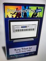 Korg triton le studio dvds video dvd help tutorial training lesson