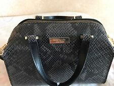 NWT $358 KATE SPADE Black Grey Snake Mini Mira PARLIAMENT SQUARE Crossbody Bag