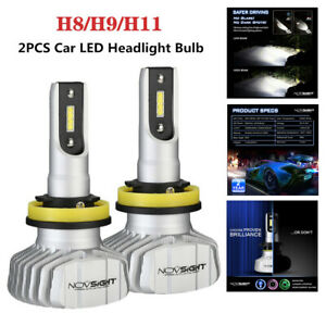 2X 10000LM Novsight H11 H8 H9 LED Headlight Bulb Car Auto Upgrade Conversion Kit
