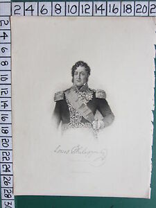 c1840 ANTIQUE PRINT ~ LOUIS PHILIPPE KING OF THE FRENCH