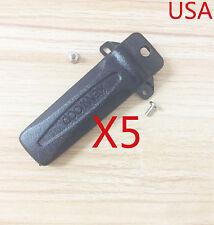 5X KBH-10 Belt Clip for Kenwood TK-2207 TK-2207G TK-3207 TK-3207G TK-2118 TK-190