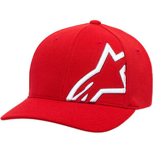 Alpinestars Corporate Stretch Mesh Hat (Red / White) Choose Size