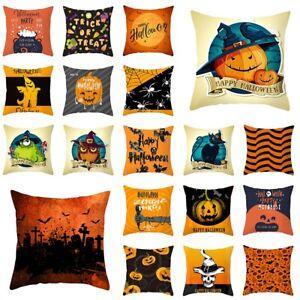 NEW Fall Halloween Pumpkin Pillow Case Waist Throw Cushion Cover Sofa Home Decor