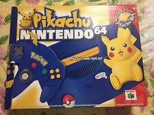 Nintendo 64 Pikachu Edition Console and Box!!!