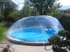 Schwimmbad Pool Überdachung CABRIO DOM Ovalbecken 5,5 x 3,6m Solar-glocke