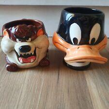 Warner Bros - Daffy & Taz 1989 Mug Set Vintage