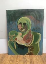 Antique Figural Abstraction Painting
