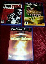 PS2 GAME BUNDLE TRUE CRIME STREETS OF LA / POKER MASTERS / ALTER ECHO