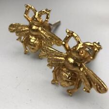 2 x Golden Gold bee VINTAGE Tiroir Porte Placard Bouton Pull Maison Cuisine Cadeau