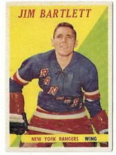 1958-59 Topps # 26 Jim Bartlett RC New York Rangers Wing