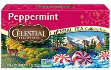 Celestial Seasonings Peppermint Herbal Tea, Caffeine Free, 20 Bags, Case of 6