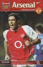 Arsenal Vs Man Utd 03/04 Season - Football Programme