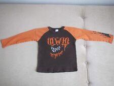 Langarmshirt LA-Shirt Gr. 104 in braun orange Wilde Kerle