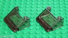 LEGO 2x Transparent Black Windscreen 3x4x1-1/3 (57783) NEW!!!!!